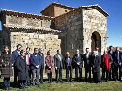 Inauguração oficial de San Pedro de la Nave